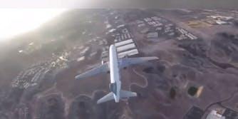 Drone airplane McCarran Airport