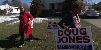 Black women campaigning for Doug Jones