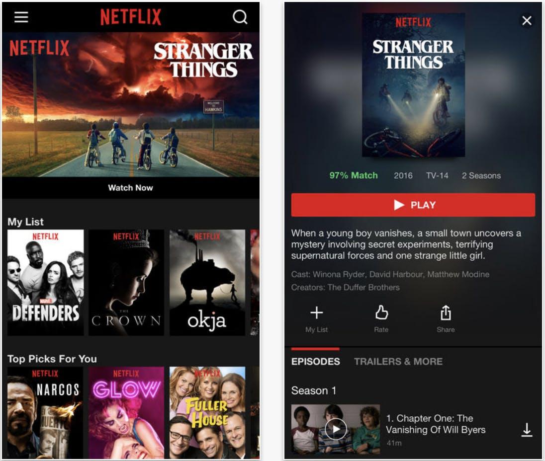 movie apps : Netflix