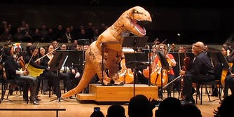 T Rex conducting an orchestra
