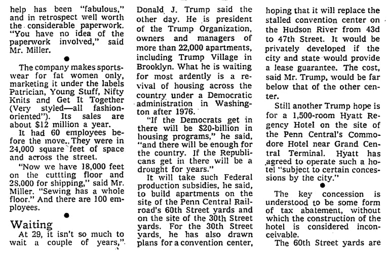 Trump outlines his hope for a Democratic president in 1976
