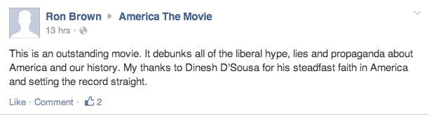 Facebook Comment America Movie Dinesh D'Souza