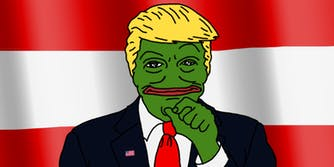 BTFO: Donald Trump as Pepe the Frog