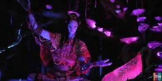 Avatar theme park robot navi journey ride