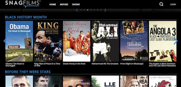 one of the best movie streaming sites snagfilms