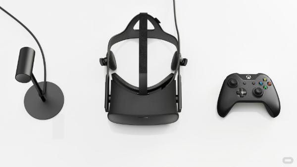 The Oculus package will include an IR sensor, the Rift headset, and an Xbox One controller.