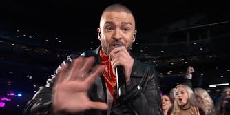 Justin Timberlake performing at Superbowl LII