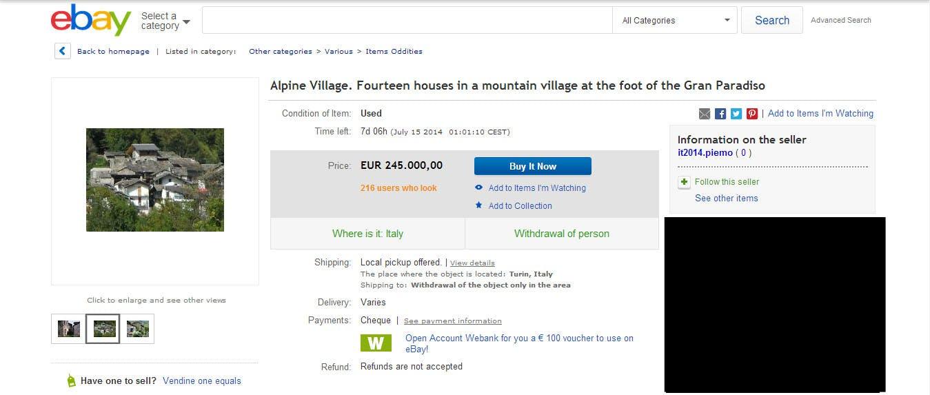 ebay listing italian town