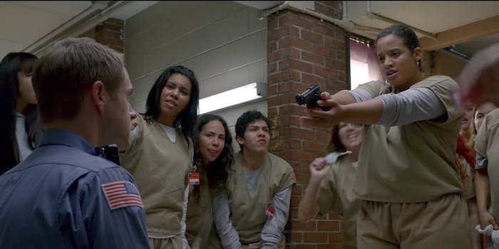 A screengrab from the Orange Is The New Black season 5 promo.