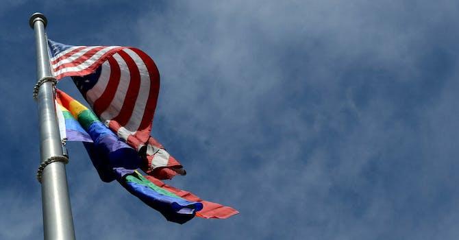 American pride flags