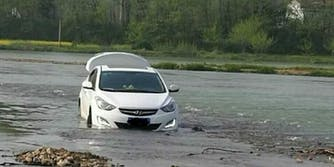 chinese man drives car in river thanks to gps