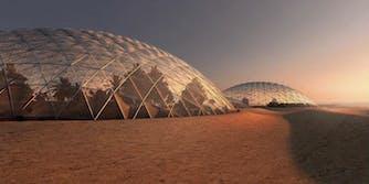mars colony concept city in dubai