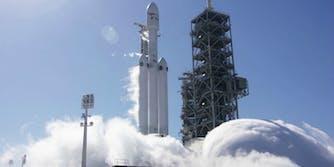spacex falcon heavy rocket test fire