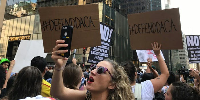 Protests in response to DACA being terminated have popped up across the country.
