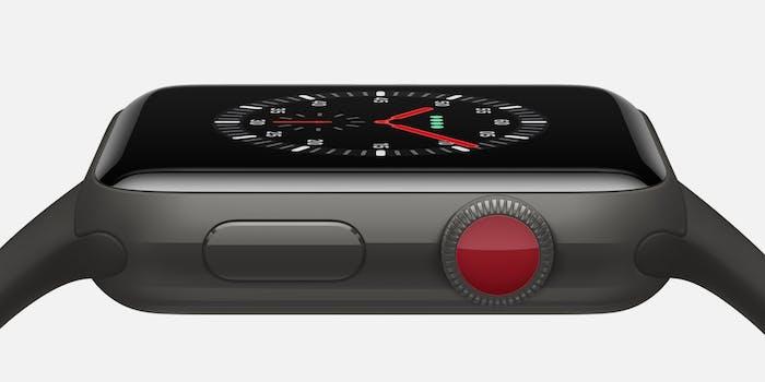 Apple Watch Series 3 side buttons closeup