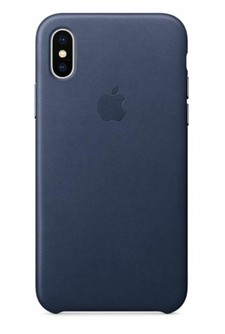 iphone x case apple leather midnight blue