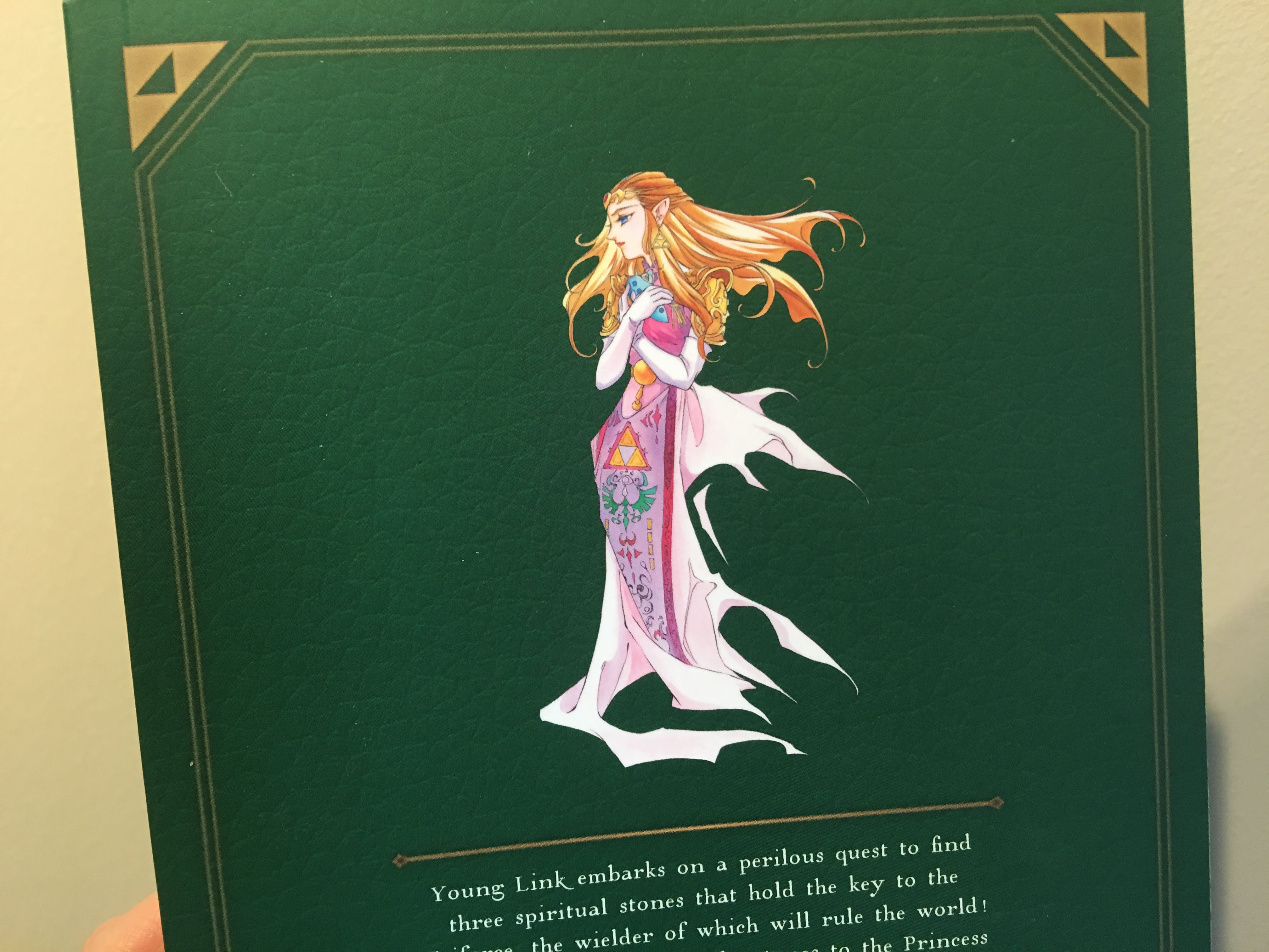 This lovely image of Zelda graces the back cover.