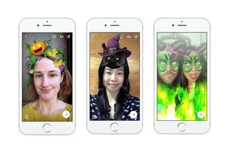 Facebook Messenger Halloween Camera effects