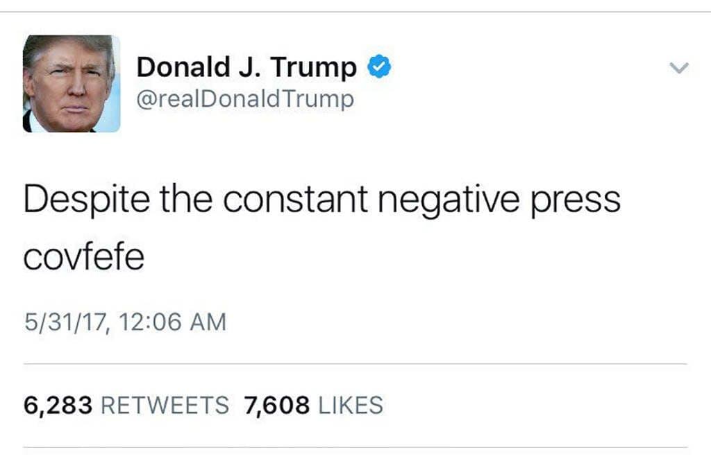 Trump Covfefe Tweet Original