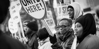 A Black Lives Matter protest in Baltimore
