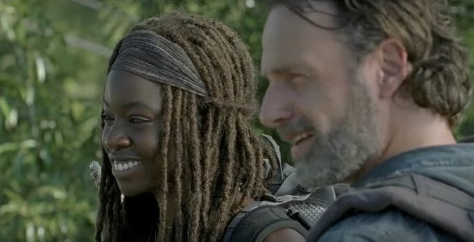 rick grimes, michonne, the Walking Dead