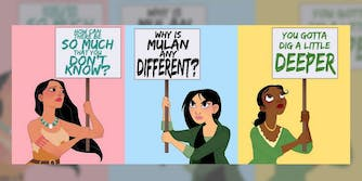Disney princesses illustrated as protesters by Amanda Allen Niday