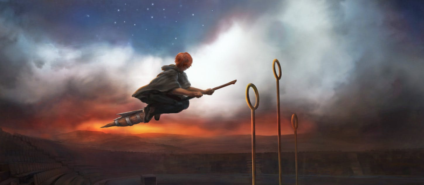 Ron Weasley on the Quidditch Pitch