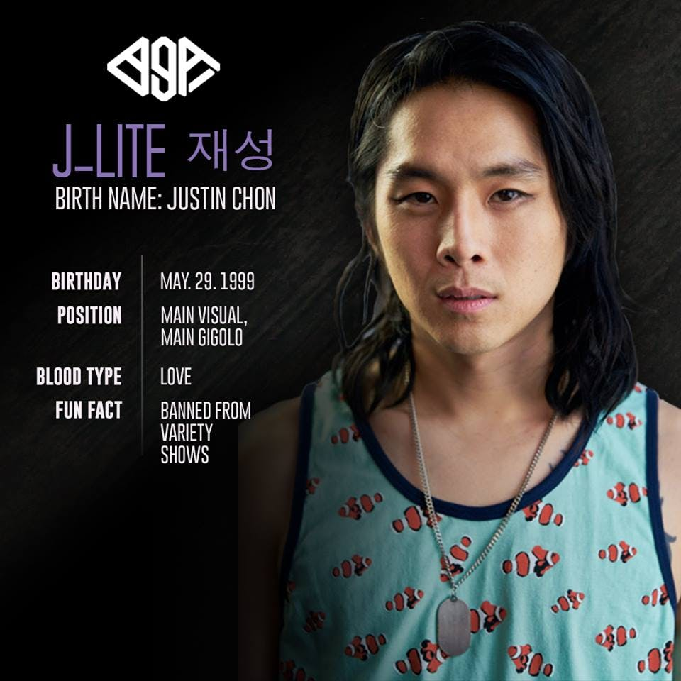 """""""Don't make eye contact with J-Lite... He will see your deepest secrets.  Fun fact: No one knows how he got into the group, but everyone is too afraid to ask"""""""