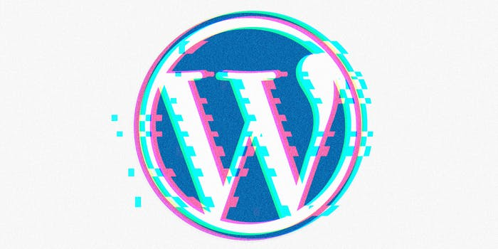Glitched Wordpress logo