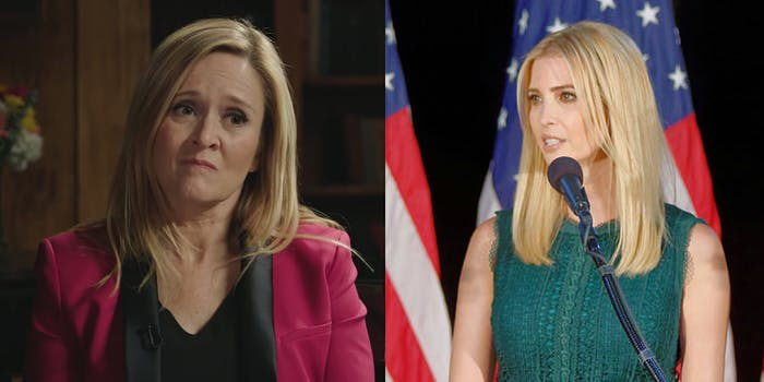 Full Frontal host Samantha Bee had a surprising prediction when asked who should thought would be the first woman president: Ivanka Trump.