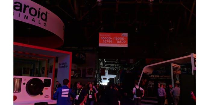 CES 2018 power outage near Polaroid booth
