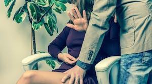 woman work harassment