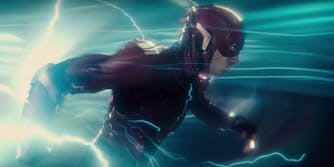 the flash running in justice league trailer