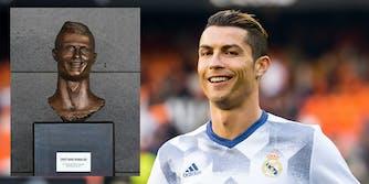 Cristiano Ronaldo statue at Madeira airport