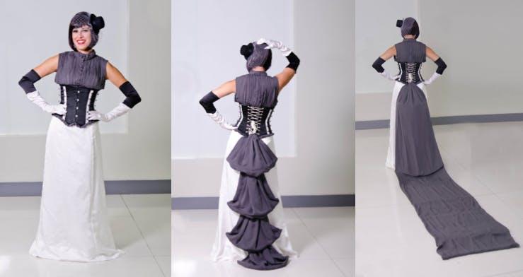 Fan fashion wedding dress inspired by Zatanna.