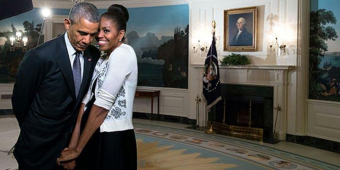 Former President Barack Obama and First Lady Michelle Obama