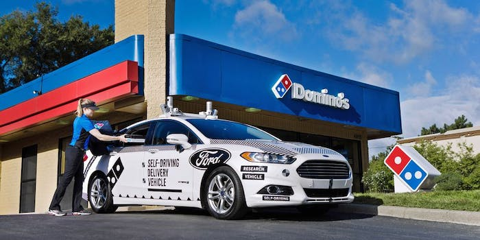 Ford Dominos pizza delivery car