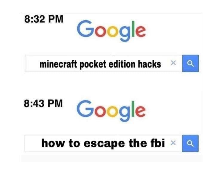 minecraft hacks google meme