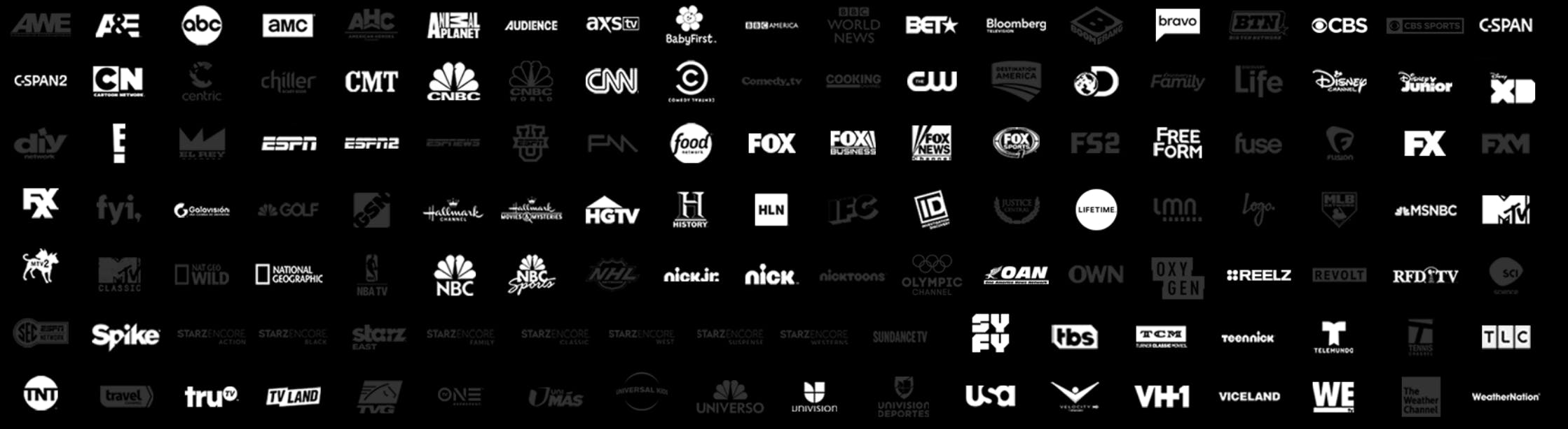 directv now channels for the live a little package