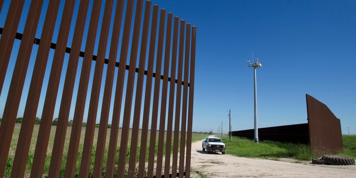 A border wall between the U.S. and Mexico