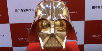 This Solid gold Darth Vader mask is selling for $1.4M