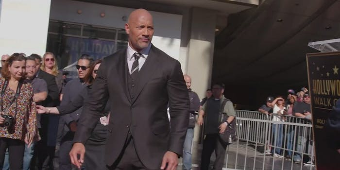 Dwayne Johnson is joining several other men in protesting sexual harassment at the Golden Globes by wearing black.
