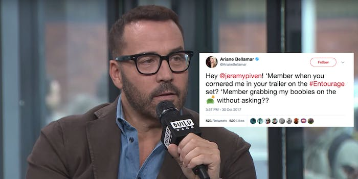 Reality actress Ariane Bellamar accused Piven yesterday on Twitter.