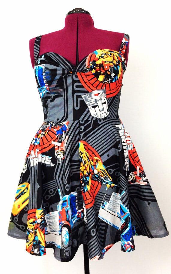 Transformers dress Etsy