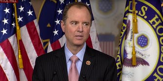 Rep. Adam Schiff at press conference discussing investigation into Russian election meddling.