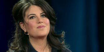 Monica Lewinsky delivers a TED Talk on cyberbullying in 2015.