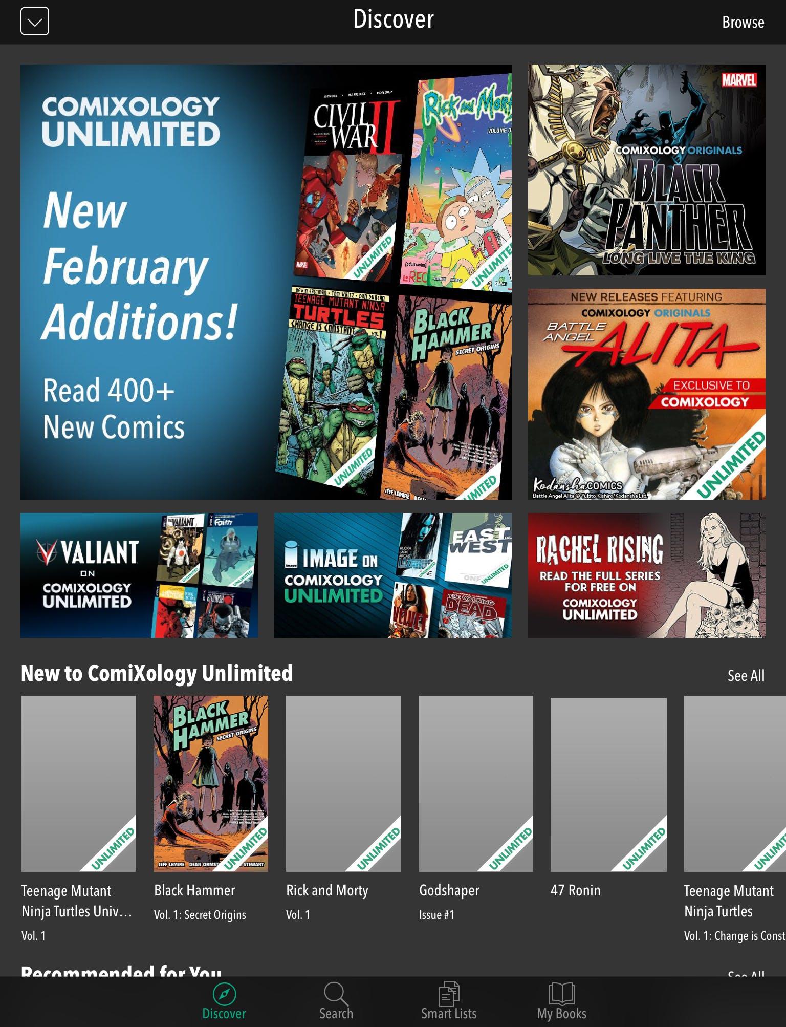 new comixology unlimited comics
