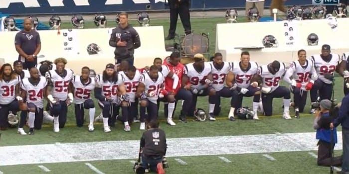 Houston Texans kneeling bob mcnair