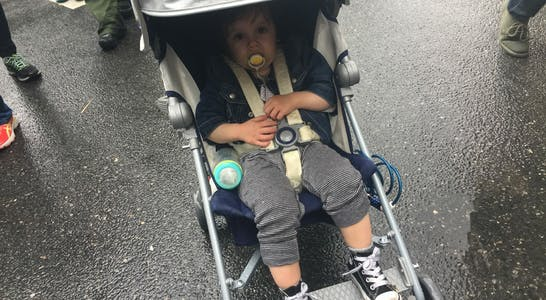baby protest stroller