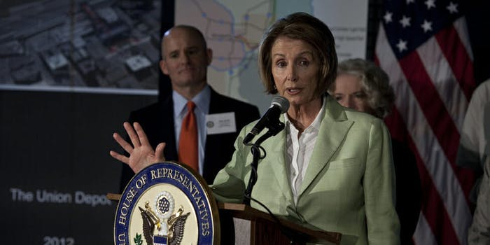 """Nancy Pelosi (D-Calif.) spoke for more than six hours on Wednesday night, lending her support for so-called """"dreamers,"""" or young undocumented immigrants."""